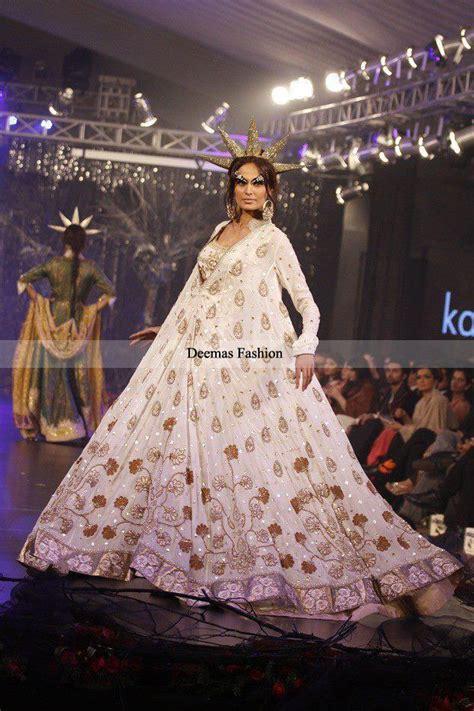 pakistani anarkali dresses latest collection 2013 trendy designer collection 2013 white embroidered anarkali