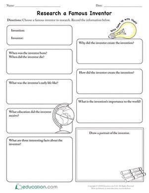 Inventors Report Template Second Grade What S In A Name Lesson Plan Education