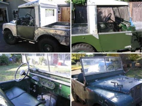 land rover series 1 hardtop early series 1 driver 1950 land rover bring a trailer