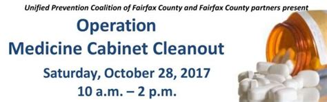 Operation Medicine Cabinet by Operation Medicine Cabinet Cleanout Coming Up In Fairfax