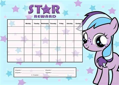printable reward charts my little pony my little pony a4 notepad reward chart 25 pages