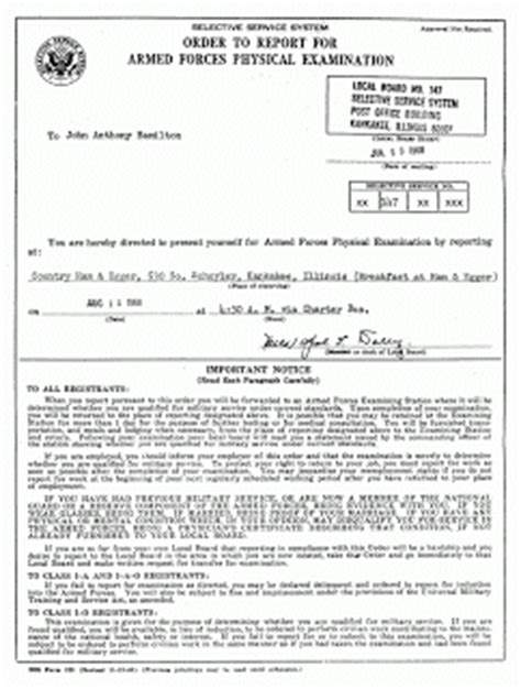 Selective Service Greetings Letter Draft Notice Pictures To Pin On Pinsdaddy