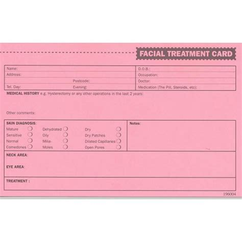 Record Card Template by Makeup Client Record Card Makeup Vidalondon