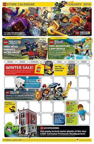 Calendar Store Lego January 2016 Store Calendar Promos Events The
