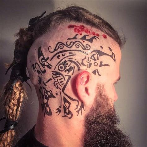 what are ragnar lothbroks head tattoos ragnar head tattoos google search tattoos pinterest