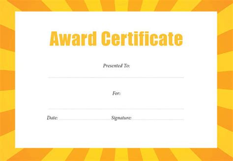 formal award certificate template 43 formal and informal editable certificate template