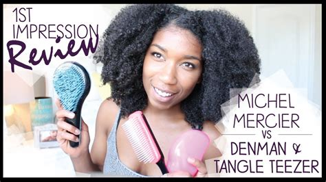 thick tangle of pubic hair woman michel mercier detangling brush vs denman tangle teezer