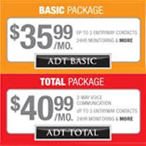adt alarm monitoring packages and pricing