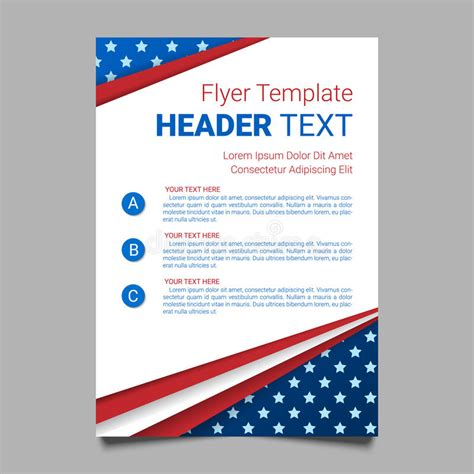 Usa Patriotic Background Vector Illustration With Text Stripes And Stars For Posters Flyers Free American Flag Flyer Template