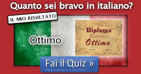 risultati test italiano risultato test sei bravo in italiano ottimale