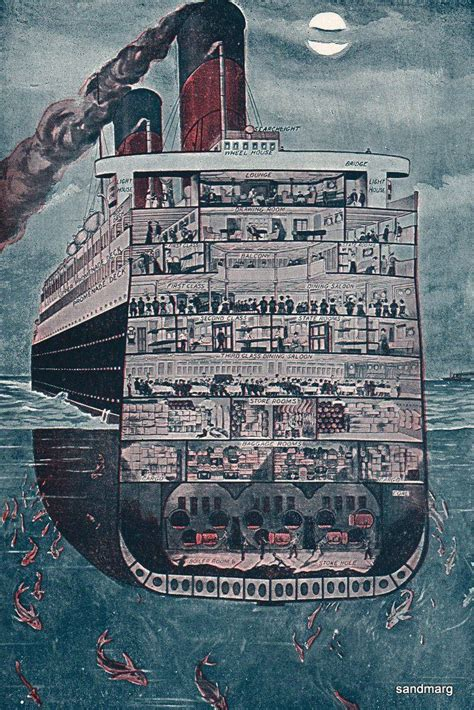 titanic layout pictures to pin on pinterest pinsdaddy titanic cutaway cut aways pinterest the o jays