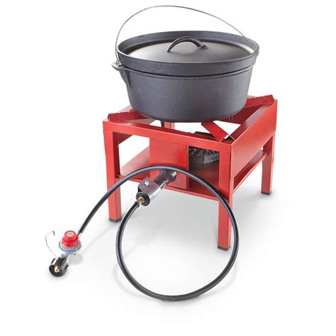 Guide gear 174 outdoor stand cooker red 582391 stoves at sportsman s guide