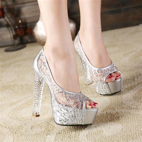 platform high heel fashion and festive shoes for season