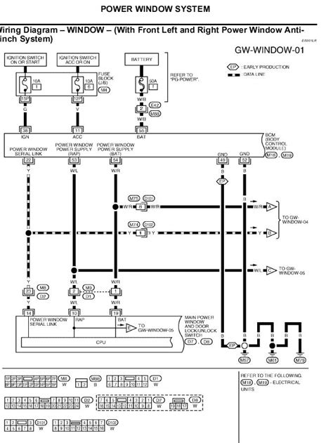 nissan an power window wiring diagram get free image
