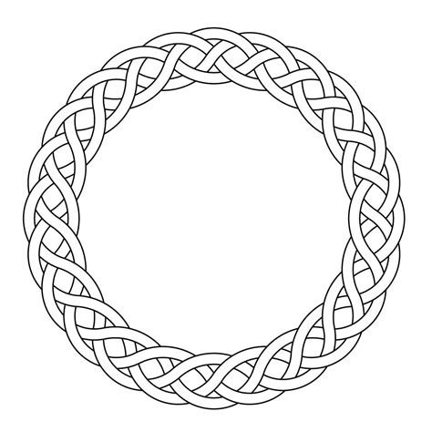 celtic circle tattoo designs celtic knot worrk circle garland narrow by mulkers