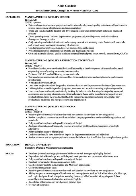 manufacturing quality resume sles velvet