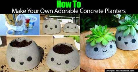 Make Your Own Planter by Diy How To Make Your Own Concrete Planters