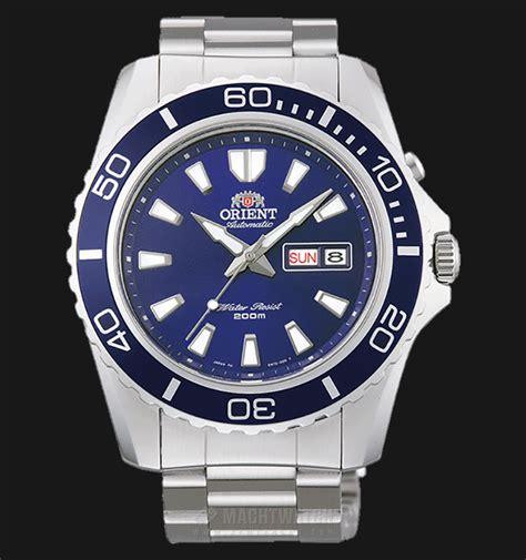 Diskon Fem Original orient fem75002d mako xl automatic dive blue stainless steel jamtangan