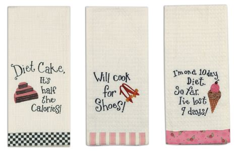 Colorful, Sometimes Snarky, Ktichen Towels   Get Cooking!