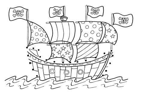 free printable pirate coloring pages for kids