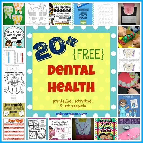 printable dental poster ultimate list of dental health activities for the classroom