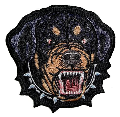 patch puppy growling rottweiler embroidered biker patch quality biker patches