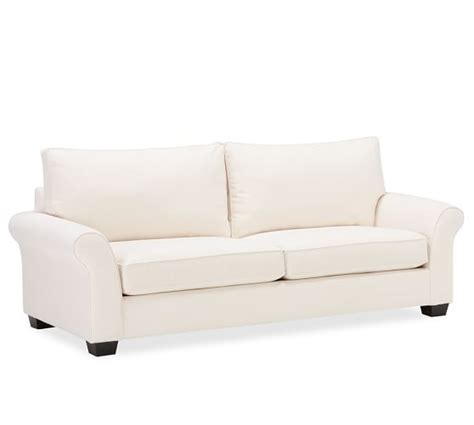 pottery barn comfort roll arm sofa pb comfort roll arm upholstered deluxe sleeper sofa