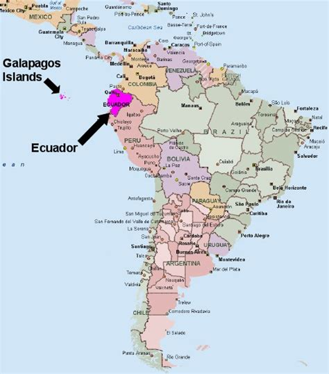 map of south america galapagos islands ecuador and galapagos islands vacation december 4