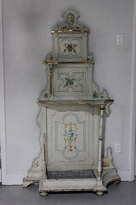 etagere vintage shabby found on estatesales net antique painted