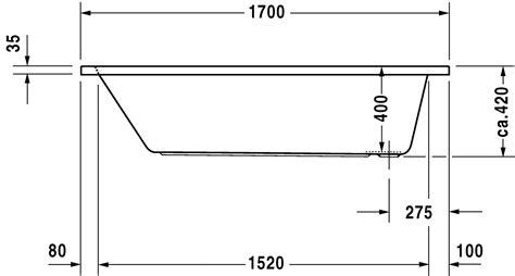 Contenance Baignoire Standard by Baignoire Rectangulaire 170x70 Cm Acrylique D Code