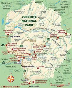 map of california yosemite national park national parks travel guide and yosemite national park on