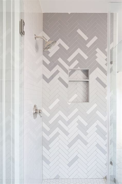 How to: Ombre Herringbone Shower ? CBC Builds