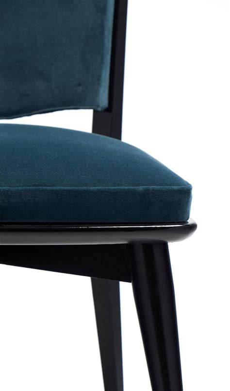 Teal Armchair For Sale by Mid Century Modern Period Set Of Six Teal Velvet Dining