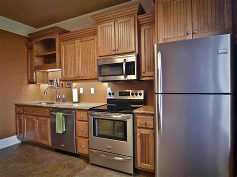 Red Kitchen Backsplash Ideas natural maple kitchen cabinets white appliances