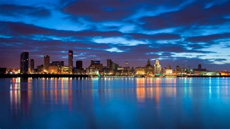 Landscape Pictures Of Liverpool City Landscape Wallpaper And Hintergrund 1366x768 Id