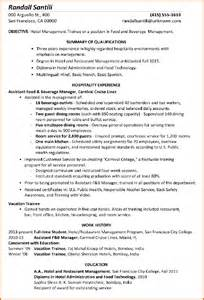 sample resume for hotel and restaurant management graduate 7 cv format for hotel management event planning template application letter for hotel and restaurant management