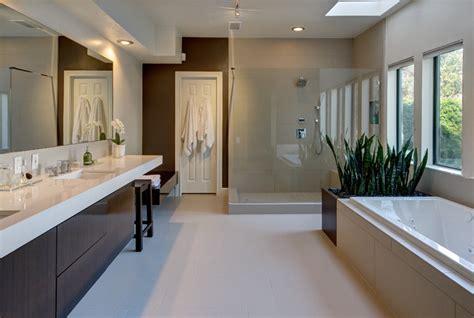 warm modern bathroom modern bathroom houston by