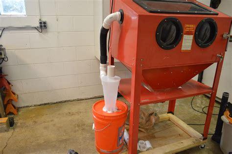 sandblasting cabinet vacuum system product review dust deputy diy for hf blast cabinet