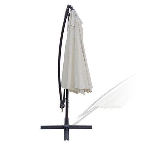 ombrellone da giardino decentrato ombrellone da giardino decentrato rotondo panna 3 m san