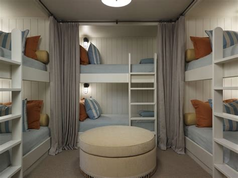 bunk rooms built in bunk beds cottage boy s room hickman design