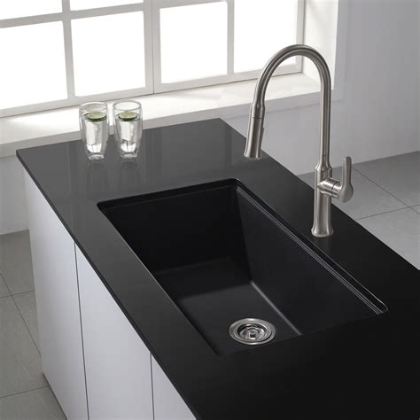 black kitchen sink sinks astonishing black granite kitchen sink black