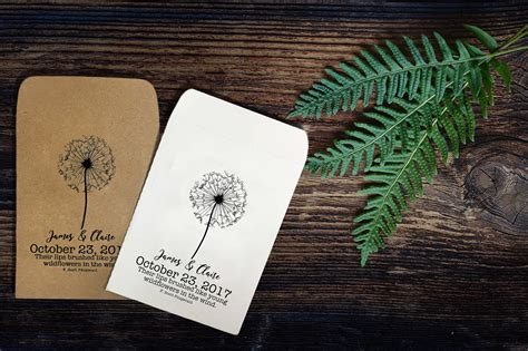 wildflower seed packets wedding favors handmade personalized