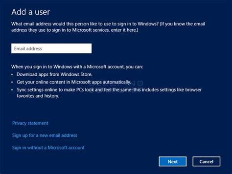 add a how to create a new user account in windows 8