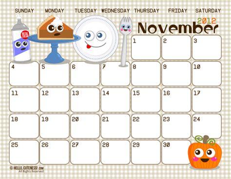 printable calendar november 2015 cute 6 best images of cute printable calendars november cute