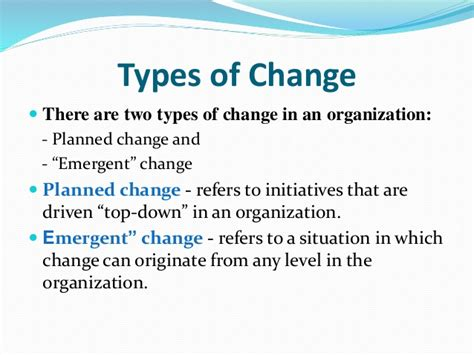 different types of challenges managing change change process change types and