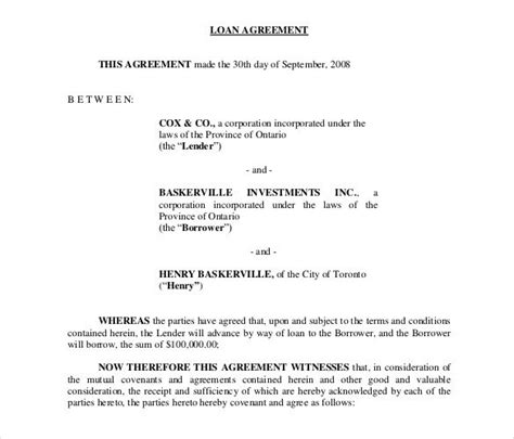 26 Great Loan Agreement Template Free Loan Agreement Template