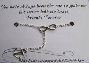 Friendship Infinity Quotes Infinity And Anchor Charm Necklace And Quote Inspirational