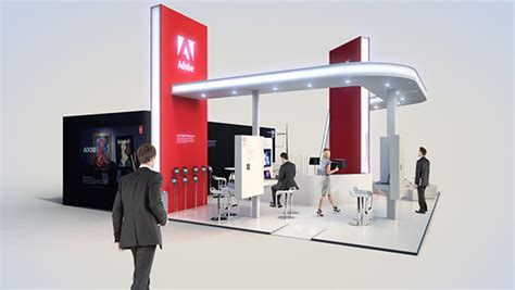 booth design germany adobe systems exhibition booth on behance