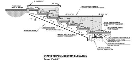 Drainage Section by Brookhaven Pool Grading And Drainage Plan Northway
