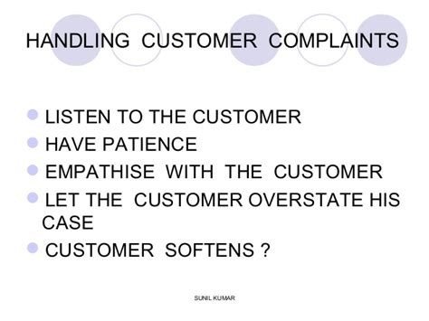 Handling A Complaint Letter Customer Handling Customer Complaints